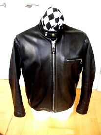 SCHOTT 141 MOTORCYCLE JACKET TAGGED 42 HARLEY CRUISER JACKET NOT VANSON AERO