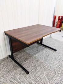 FREE SAME-DAY DELIVERY - Walnut Rectangular Office Desk, 1200mm Wide