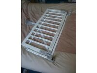 Good condition white wooden Baby Dan bed guard