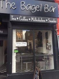 For sale the lease of this newly established Bagel /coffee/milkshake shop in clapton