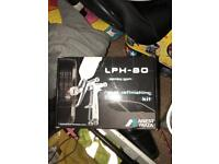Iwata LPH80 and air fed mask