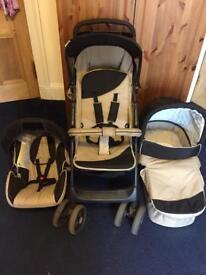 Hauck pushchair 3 in 1 travel system