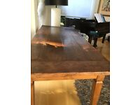 Distressed Oak refectory dining table