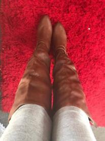 Just fab leather boots size 8