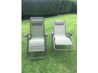 Garden reclining chairs