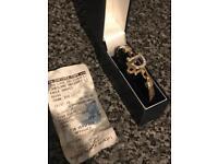 Solid 9 carat 9k 9ct gold dior bangle / bracelet NOT gucci belcher chain saddler keeper