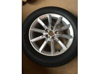 "Audi Q3 17"" alloy wheel and new tyre"