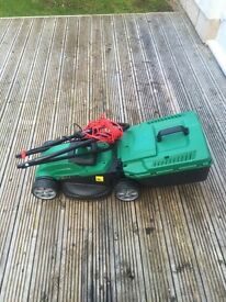 Qualcast lawnmower and trimmer