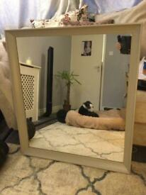 Wooden grey mirror