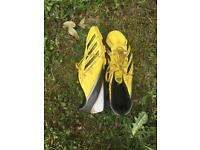Addidas yellow f5 football boots