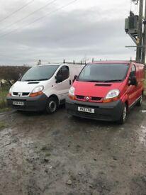 2 Renault traffics both Psv red 2005 99k 2006 white 127 k
