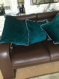 Laura Ashley teal cushions