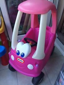 Girls Kids Pink Little Tikes Car