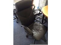 office furniture leather chairs