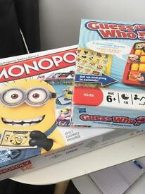 Original Minions Monopoly and Guess Who
