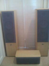floor standing speakers pair & center speaker.