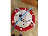 Moses basket & stand, travel cot, bath seat, baby bath, play mat, activity play stand and car seat