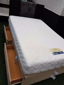 Three quarter bed/mattress/4 drawers