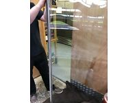 New curved glass shower screen, 156x63cm