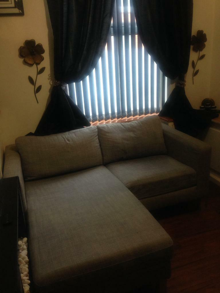 Grey ex - display fabric Chaise Lounge (sofa)