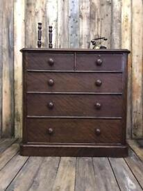 Large victorian chest of drawers 2 over 3 ⭐️DELIVERY AVAILABLE ⭐