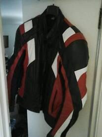 Moterbike leather jacket