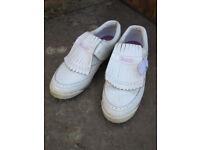 Ladies Etonic White Golf Shoes - Hardly used