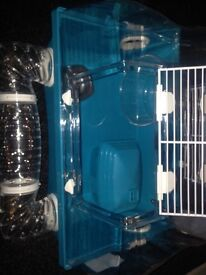 2 hamster cages with tubes, can be sold separately
