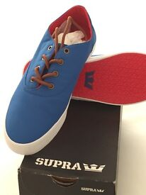 Blue spray way shoes