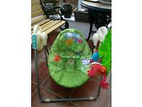 Fisher Price baby swing/rocker + playmat as new