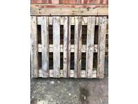 FREE to collector. 2 wooden pallets!