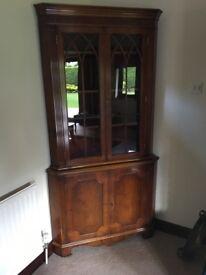 Yew Corner Cabinet