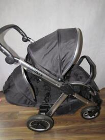 Babystyle Oyster Max 2 Black Double pram Pushchair