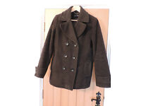 A Ladies Dark Grey Coat from Lands End UK14