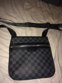 Mint condition 10/10 Genuine , LV Man bag (all black)