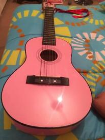 Pink girls guitar £25