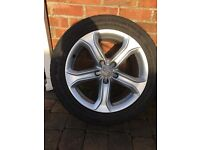 """17"""" Genuine Audi alloys - good condition no dents or buckles with 4 good tyres"""