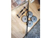 Barbell and dumbells plus weights