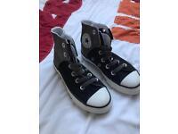 Boys black grey Converse size11.5