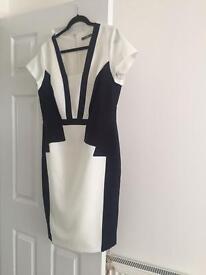 Black/white dress size 16