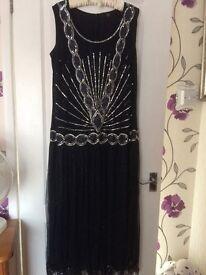 Size 22 Ladies Navy/Silver Dress
