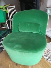 Swivel easy chair