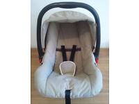 BABY CAR SEAT, MOTHERCARE, JUNIOR, SIDE HEAD PROTECTION,UNIVERSAL,GROUP O + BIRTH TO 13kgs WITH HOOD