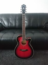 Ibanez acoustic guitar built-in tuner for sale needs pins and some new strings beautiful looking