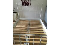 Ikea White Double Bed Frame like new £50 ( mattress also listed )