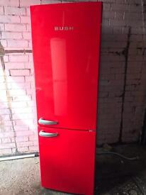 Bush red tall fridge freezer