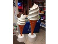 Display ice-cream cones