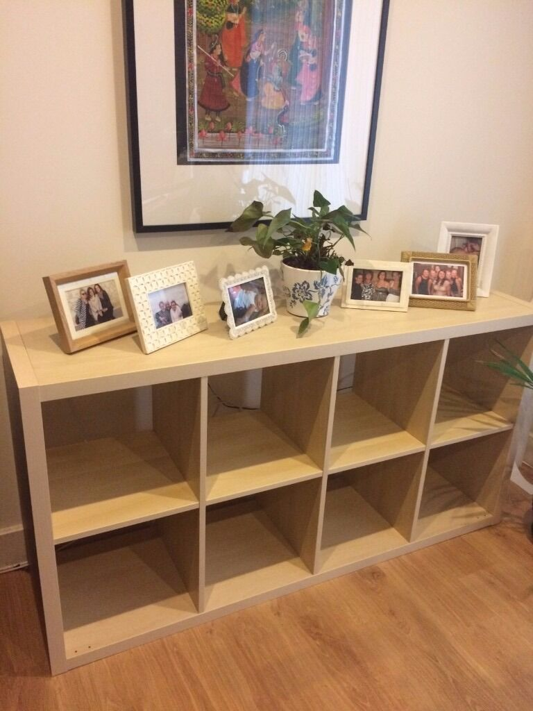 ikea kallax shelf side board birch effect in london gumtree. Black Bedroom Furniture Sets. Home Design Ideas