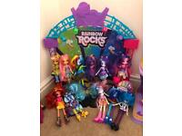 My Little Pony Rainbow Rocks Stage plus Dolls