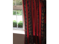 Cotton curtains - 3 pairs